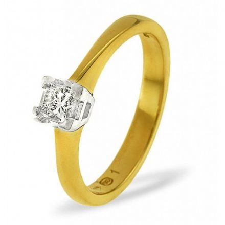 18K Gold 0.25ct H/si Diamond Solitaire Ring, SR09-25HSY